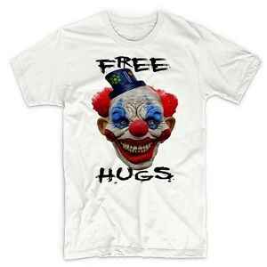 Creepy Clown T Shirt Halloween Psycho Evil Scary Sinister Dark Goth