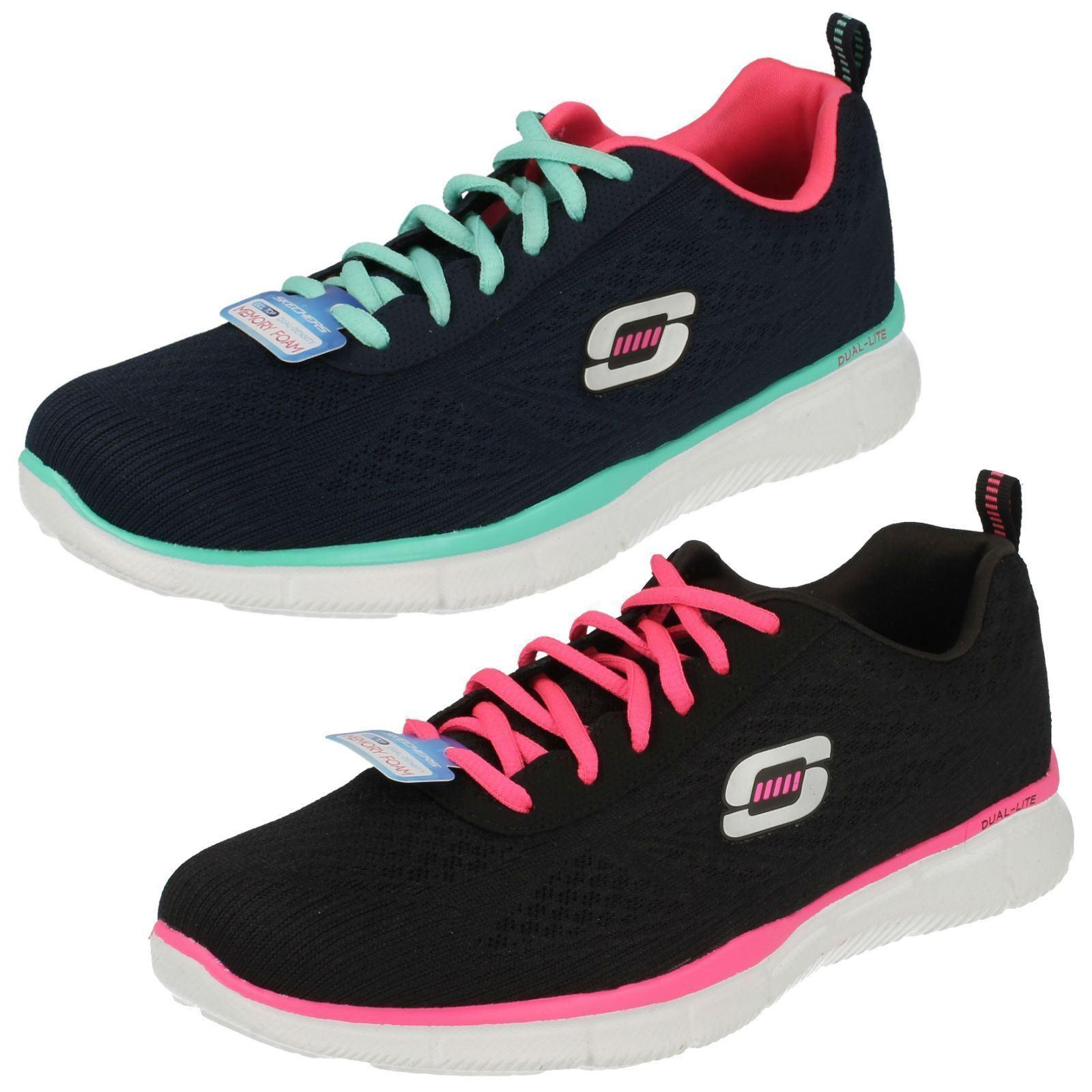 Skechers Mujer True Form Gel Top espuma viscoelástica Zapatillas Con Cordones