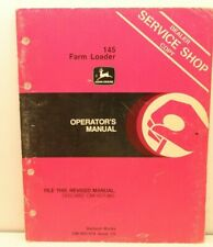 John Deere 145 Farm Loader Dealer Service Shop Copy Operator Manual Om W21474 C0