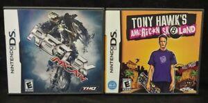 Tony-Hawk-039-s-Skateland-MX-vs-ATV-Nintendo-DS-Lite-3DS-2DS-2-Game-Lot-Tested