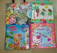 Lot Of 4 Hawaii Exclusive Plus Mcdonalds Reusable Shopping Tote Bag Hello Kitty