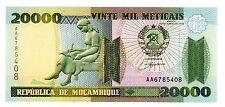 Mozambique … P-140 … 20000 Meticais … 1999 … *UNC*