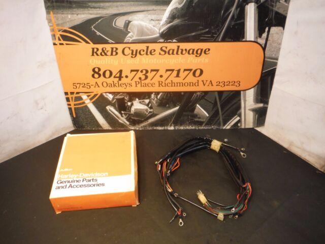 Harley Davidson Nos Oem Fx Fxe Shovelhead Main Wire Wiring Harness Loom 70343