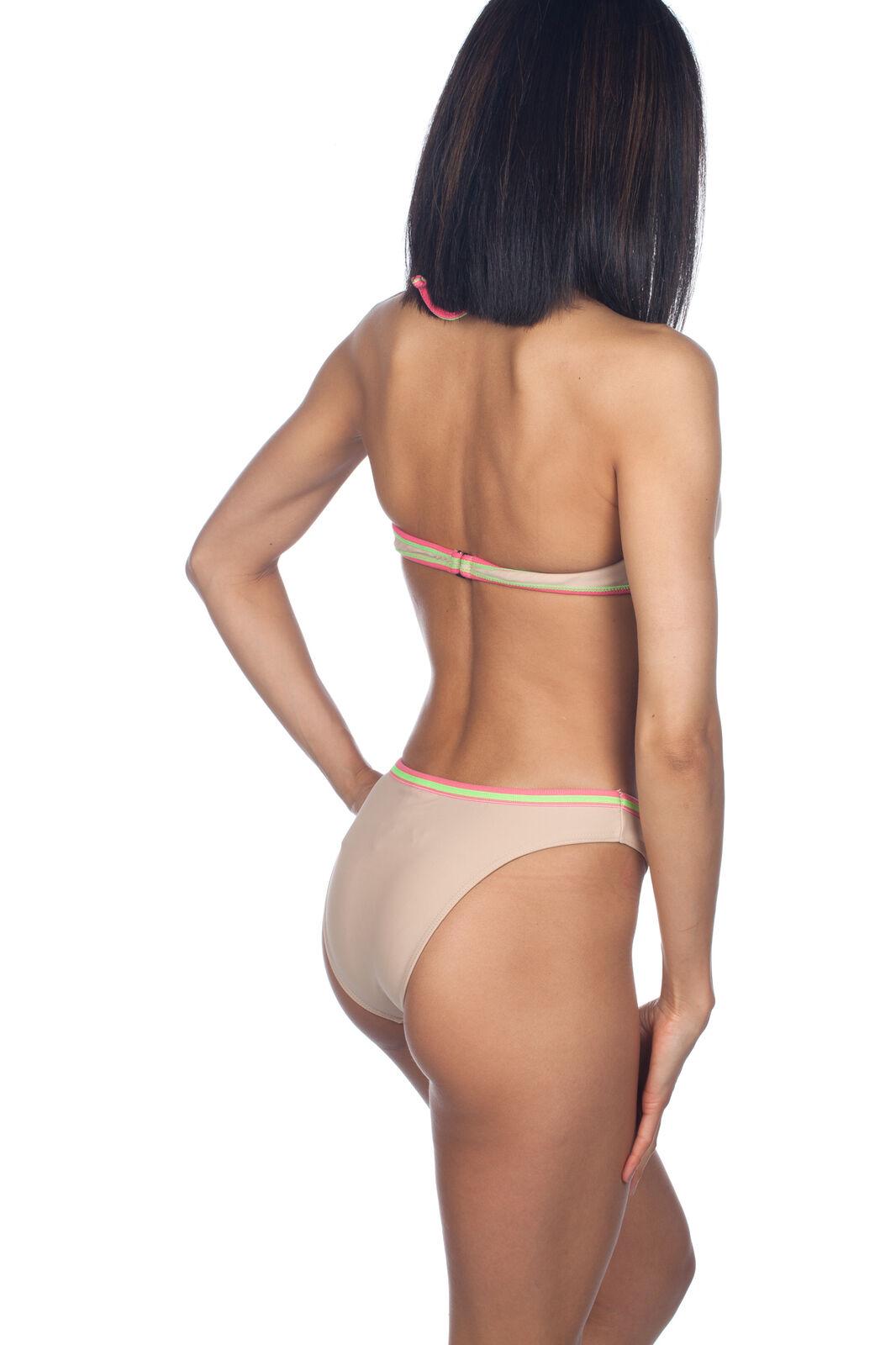 Rosa Cha Amir Slama Bügel Neckholder Brasilianischer Bikini Satz 2532