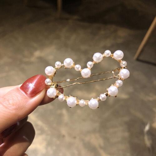 Charm Girls Pearl Alloy Barrette Clip Hairpin Women Hair Accessories Christmas