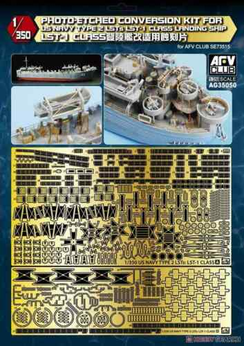 Afv Club AG35050-1//35 Photo-Etched conver set for US Navy Type 2 LST-1 Class