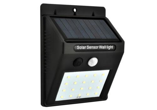 Solarleuchte 20 LEDs Bewegungssensor Außenleuchte Wandleuchte Wetterfest 5015