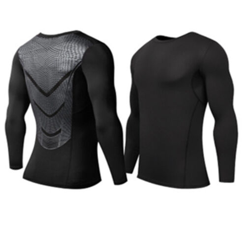 Men Boys Compression Tops Thermal Long Sleeve T-Shirt Tops Tee Under Base Layer