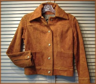"Girl's Cowgirl Leather Jacket Rust Colored Leather (14) Large 32"" bust 30"" waist"