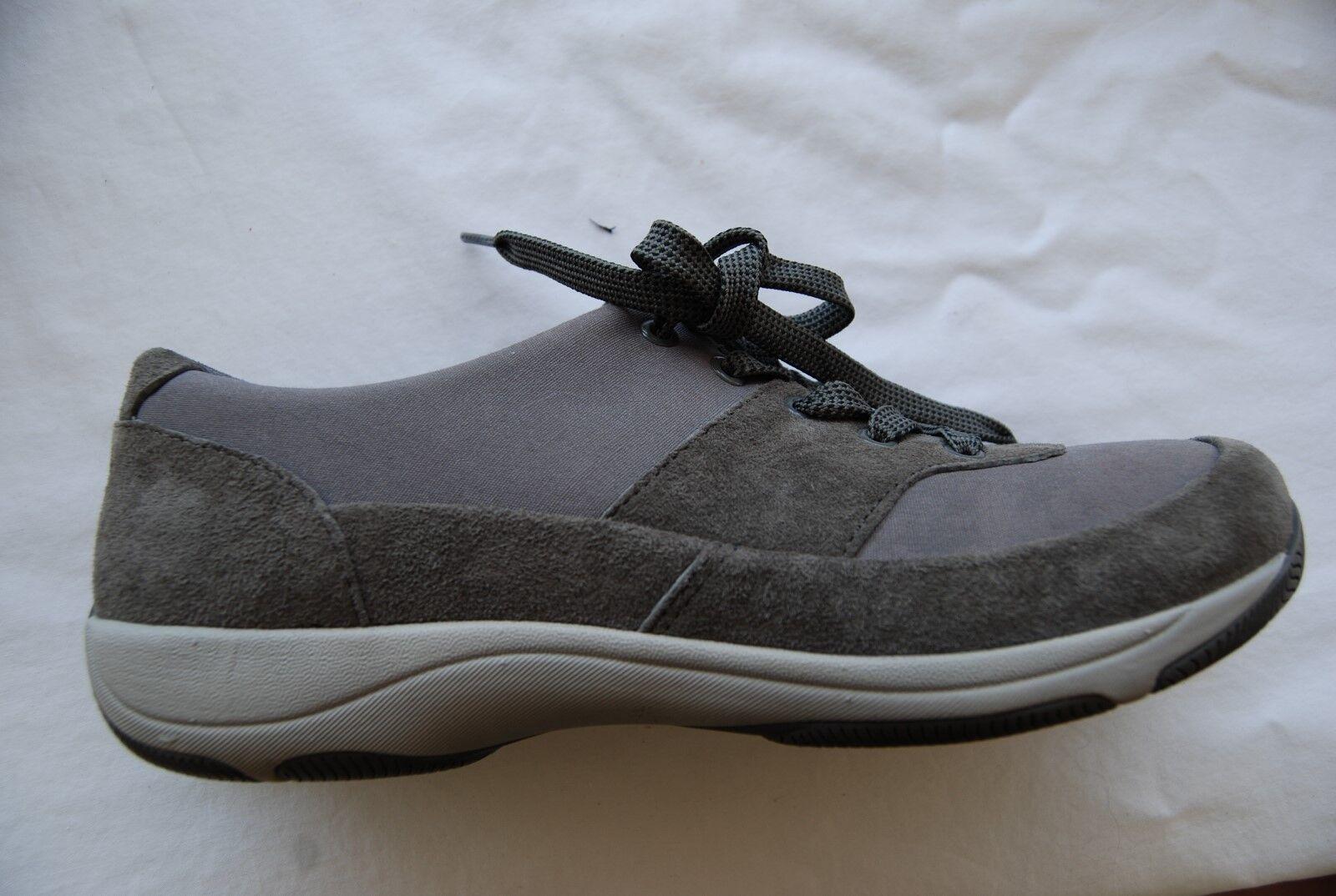 Dark Gray Suede Sneaker  Textile DANSKO Laced Sneaker Suede Style Shoes EU 40 US 9.5 - 10 16f2e3