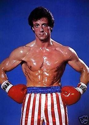 Sylvester Stallone Rocky Balboa Colour Flag 10x8 Photo | eBay