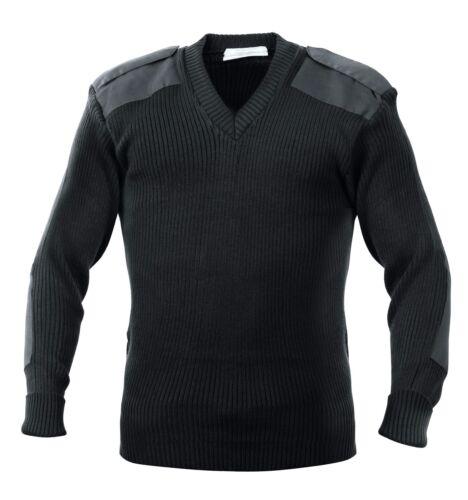 Acrylic V-Neck Sweater Military Stylish V Neck Sweaters OD Black Navy Rothco
