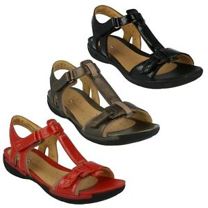 decdbf4b975cac Image is loading LADIES-CLARKS-UN-VOSHELL-UNSTRUCTURED-OPEN-TOE-LEATHER-