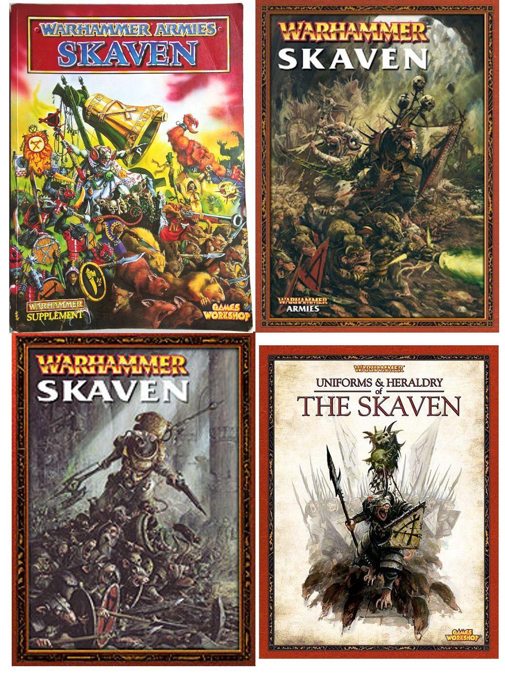 Skaven Warhammer Army Book various editions select - OOP