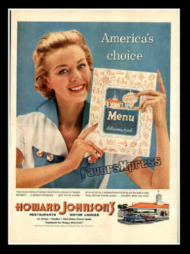 Vintage 1950s HOWARD JOHNSON/'S AD MAGNET ~ Thin Flexible 4x3 in.