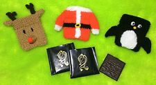 KNITTING PATTERN - Christmas Mint Covers -After Eight- Penguin, Reindeer, Jacket