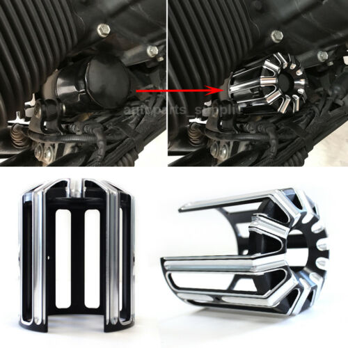 CNC Aluminum Oil Filter Cover Trim For Harley Touring Road Street Glide King BK