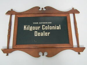 Image Is Loading Vintage Kilgour Colonial Furniture  Dealer Wooden Advertising Store
