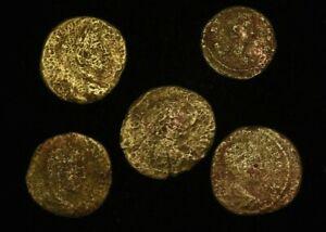 LOT-5-X-EARLY-IMPERIAL-ROMAN-COINS-GOOD-FOLLIS
