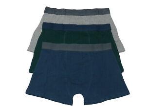 Mens-3-pack-Boxer-Shorts-PLAIN-COLOURS-Bargain-Value-Deal