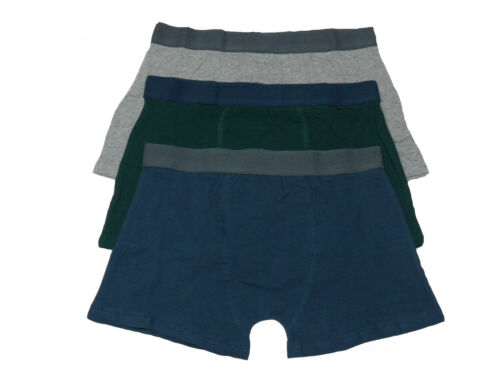 Mens 3 pack Boxer Shorts PLAIN COLOURS Bargain Value Deal Christmas Summer