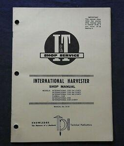 INTERNATIONAL HARVESTER CUB 154 184 185 Lo-BOY FARMALL CUB TRACTOR I & T MANUAL