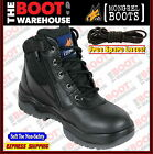 Mongrel Work Boots 961020, Soft Toe, Non Safety, Brand New, Black, Zip Sider.