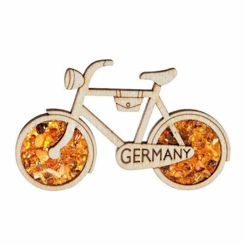 Kühlschrankmagnet  Fahrrad Germany echter Bernstein Souvenir