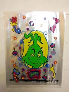 The Grinch Christmas Party.Details About New Lot Of 50 The Grinch Christmas Party Treat Deluxe Favor Plastic Goody Bags
