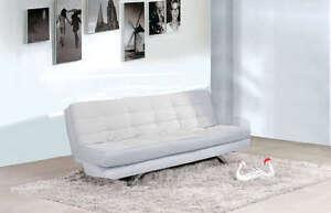 Divani Bianchi Ecopelle : Divano letto 192x87 bianco ecopelle reclinabile sofa salotto arredo