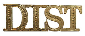 DIST District Gilded Abbreviation For Orange Order Collarette