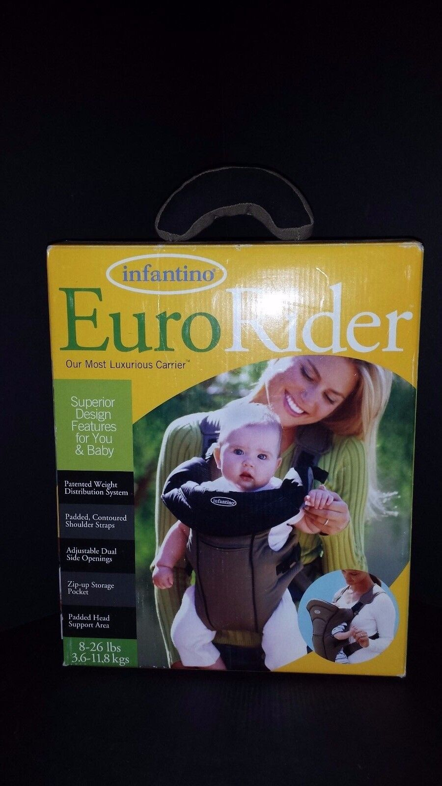 1d2d20d64b9 Infantino Euro Rider 8-26 Lbs Baby Toddler Front Padded Carrier ...
