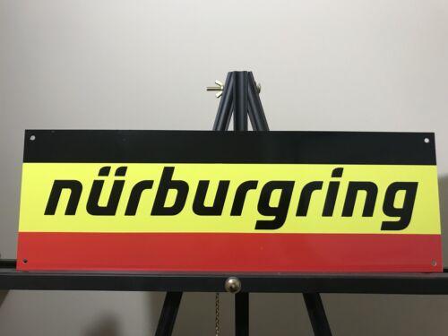 Nurburgring racing garage sign BMW Porsche mercedes baked