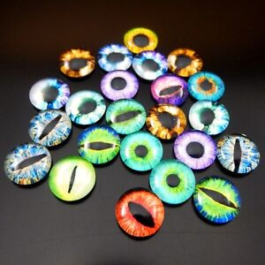 10//20//30//50PCS Dragon Eye Cat Eye Evil Eye Glass Cameo Cabochons 8//10//12//15//25mm