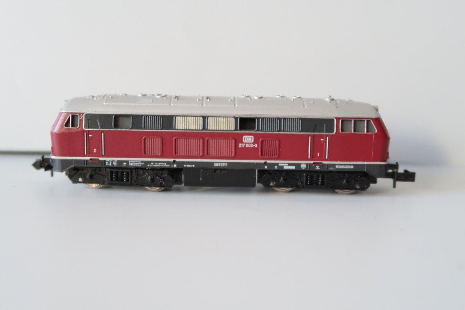 Minitrix N 2952 Locomotiva Diesel BR 217 003-3 DB altrot  dr/79-39s4/2