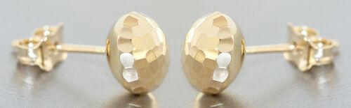 Pendientes de oro 585 brillantes mecanizada aretes señora pendiente 14 quilates
