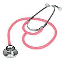 Brand New Double Dual Head Pink Stethoscope In Box