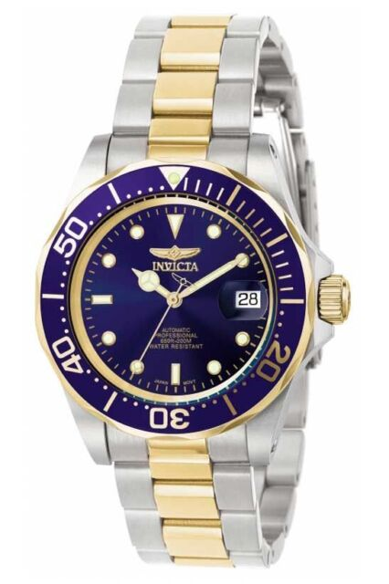 INVICTA Pro Diver Automatic NH35A Blue Dial  Stainless Steel Men's Watch  8928
