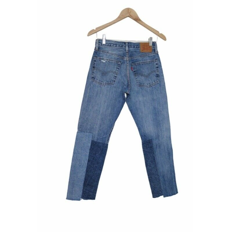 Levis Anthropologie Womens 501 Cropped Jeans Patc… - image 2