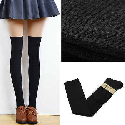 Long Over Knee Cotton Socks Thigh High Soft Cotton Stockings For Women Girls EX3