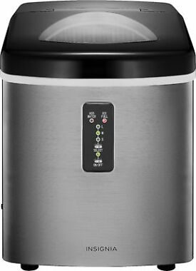 Insignia 33-Lb. Portable Stainless Steel Ice Maker