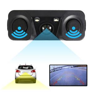 3-in1-170-Car-Visual-Reversing-Rear-View-Camera-Backup-Parking-Sensor-Buzzer-UK