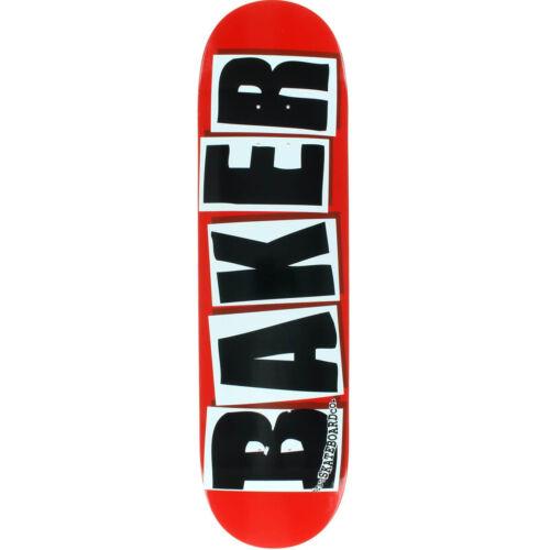 Baker Skateboard Deck Brand Logo Red//Black 8.47/' BRAND NEW IN SHRINK