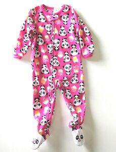 55234599b9fc NEW Carter s PJs Fleece Soft Pink Footsie Sleepwear Panda Cupcakes ...