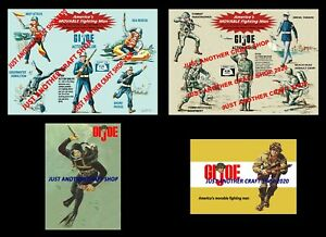 GI-Joe-Vintage-1964-Action-Sailor-Marine-Set-of-4-Posters-Store-Display-Sign-Ad