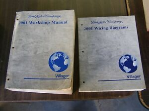 Oem Ford 2001 Mercury Villager Minivan Shop Manual Books