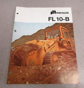 Details about Fiat Allis FL 10-B Crawler Loader Color Brochure Manual  CM-1323-7701