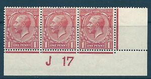 N16(8) 1d Pale Red Royal Cypher Control J 17 imperf MOUNTED MINT