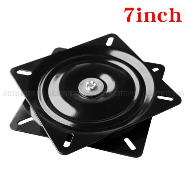 7 Heavy Duty Bar Stool Swivel Plate Chair Replacement Steel Square Black