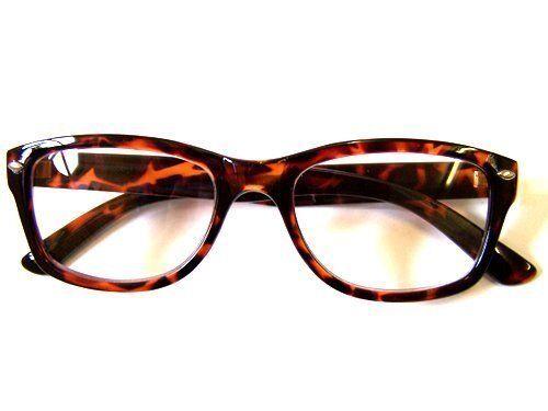 Retro Nerd Fashion Unisex Eyewear Clear Lens Fake Eye Glasses Tortoise Frame